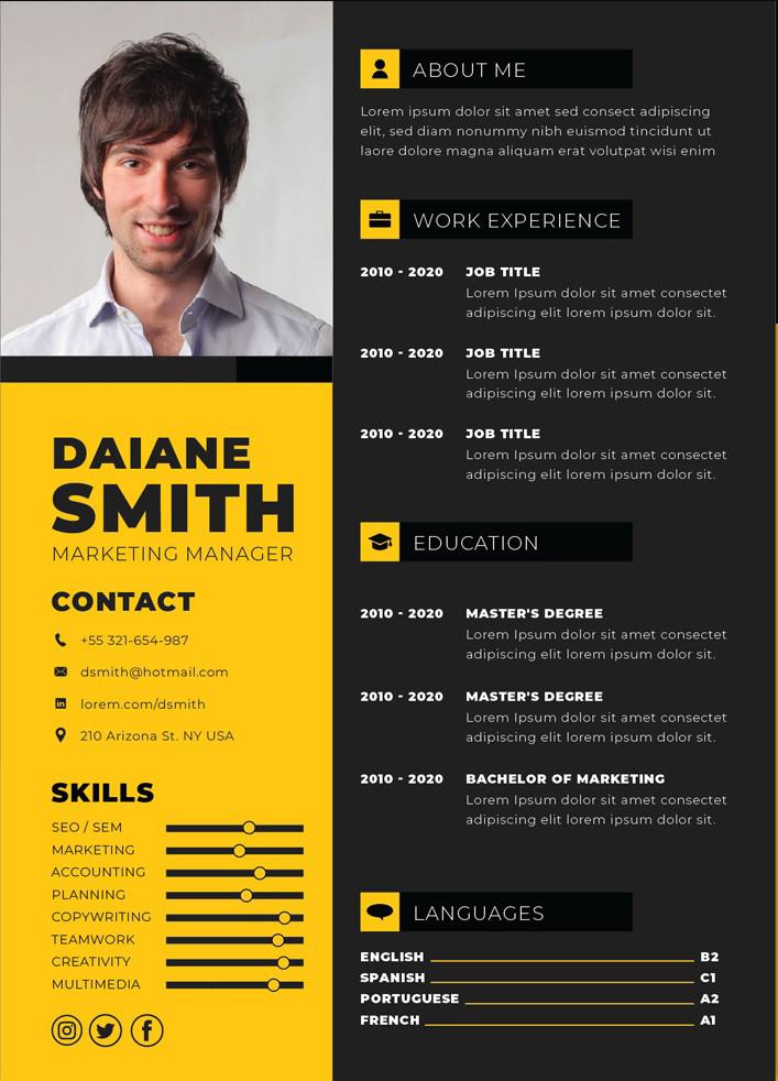 Resume Yellow